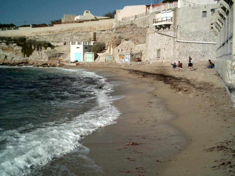 Plage de l'Abri-Côtier près des calanques de Marseille