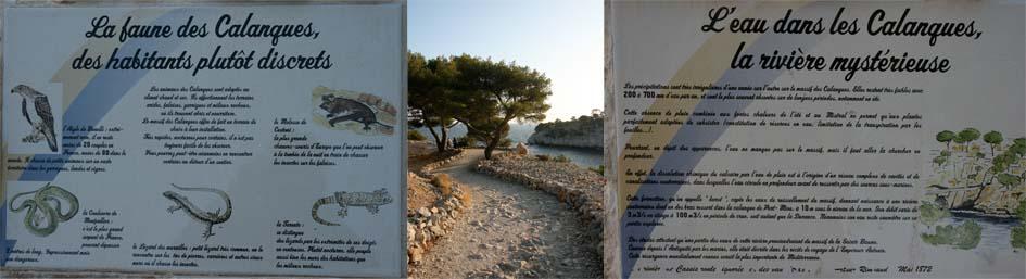 promenade culturel Port Miou