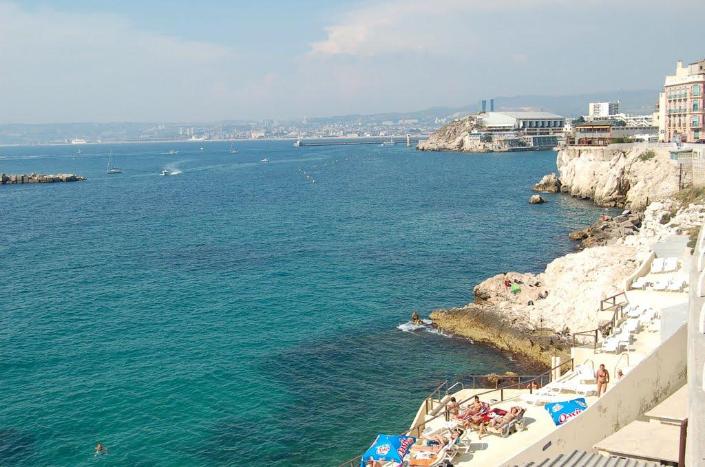 Anse de Malmousque à Marseille et ses rochers