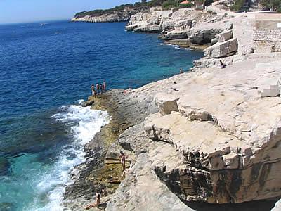 Les roches plates de la presqu'île de Cassis