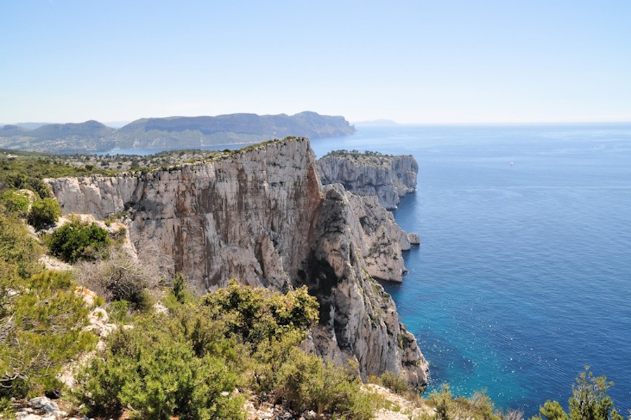 Panorama sur les calanques de Marseille